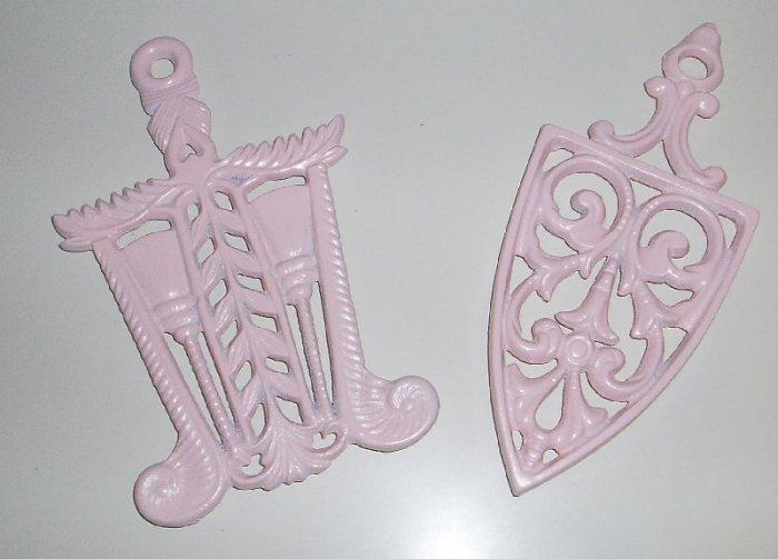 Vintage Shabby Pink Chic Trivets (2)