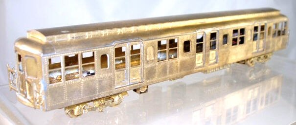 Silver Leaf Rapid Transit Models  HO Brass  Standard Subway Car  Powered|BrassTrainsAndMore