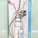 Takara  Vintage Brass  2-Light Target Signal  Silvered  W/Original Box|BrassTrainsAndMore
