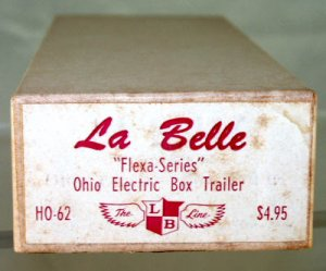 LaBelle  Vintage HO  Ohio Electric  Box Trailer Kit  HO-62 W/Original Box|BrassTrainsAndMore
