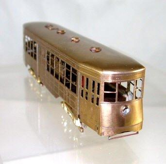 Fairfield Traction Models  Brass HO Scale  Very Rare  Tars Huffliner Trolley BrassTrainsAndMore