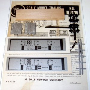 "Red Ball  HO Scale  SF  ""Dry Ice"" Car Kit # R6|BrassTrainsAndMore"