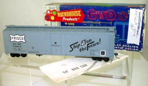 Roundhouse  HO Scale  Frisco  50FT.  Plug Door Box Car#SLSF13004