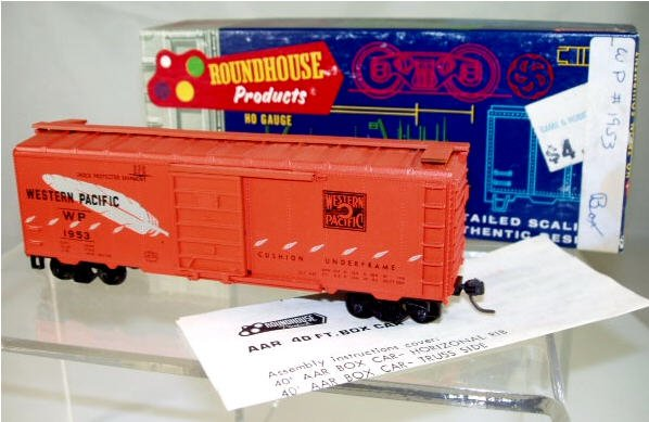 Roundhouse  HO Scale  WP  40FT.  AAR  Box Car#WP1953