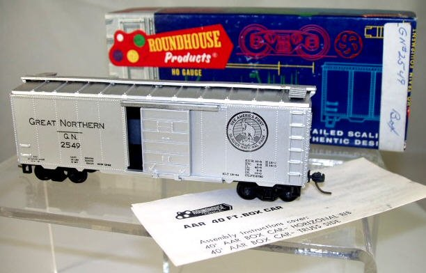 Roundhouse  HO Scale  GN  40 FT  AAR  Box Car#G.N.2549