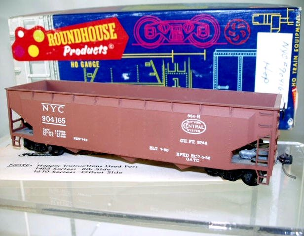 Roundhouse  HO Scale  NYC  40FT. Open-Top 3-Bay Offset-Side Hopper#NYC904165
