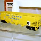 Tyco  HO Scale  D&H  40FT.  Open-Top  Quad-Hopper#D&H123