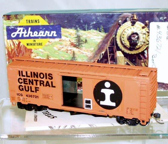 Athearn  HO Scale  Illinois Central Gulf  40FT. Single-Door Box Car#ICG436721