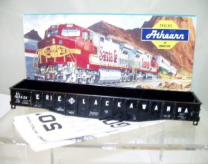 Athearn  HO Scale  Erie Lackawanna  50Ft. Open-Top Fishbelly-Side Gondola#EL43628