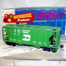 Roundhouse HO Scale  Burlington Northern  34Ft. Rib-Side 2-Bay Covered Hopper#75269