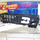 Roundhouse HO Scale  Burlington Northern  40Ft. Rib-Side 3-Bay Hopper#BN517037