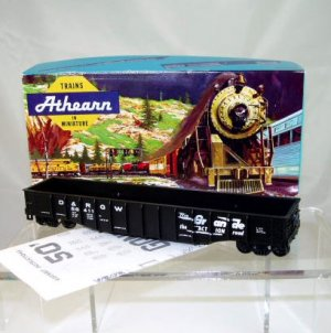 Athearn Bev-Bel HO Scale  D&amp;RGW  50Ft. Open Top Work Train Gondola Kit#56411