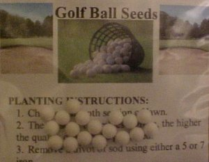 Grow Your Own Golf Ball Seeds Gag Gift Golfer Balls Novelty