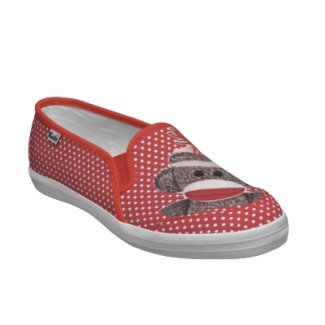 sock monkey s slip on tennis shoes