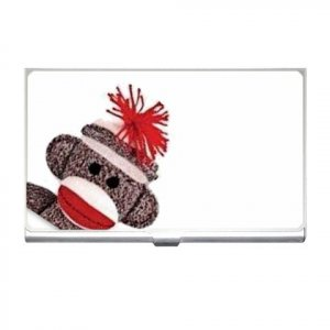 Sock Monkey Business Card Holder Case Show your personality 25916336