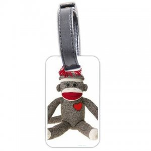 Sock Monkey Luggage Tag Show your personality 26402556