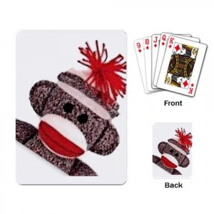 Sock Monkey Deck of Playing Cards 27632432