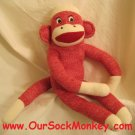 "Sock Monkey Maxx 18"" Red New"