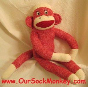 "Sock Monkey Maxx 18"" Red New"