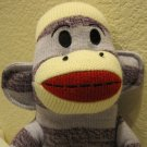 "Sock Monkey Maxx 18"" Purple Stripes New"