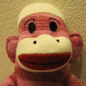 "Sock Monkey Maxx 18"" Red Stripes New"
