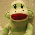 "Sock Monkey Maxx 18"" Green Stripes New"