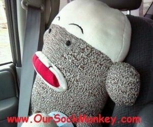 "Really Big Sock Monkey Giant 48"" 4 FOOT TALL"