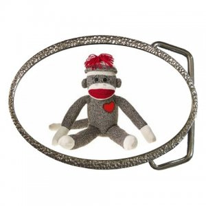 Sock Monkey Belt Buckle 26402375