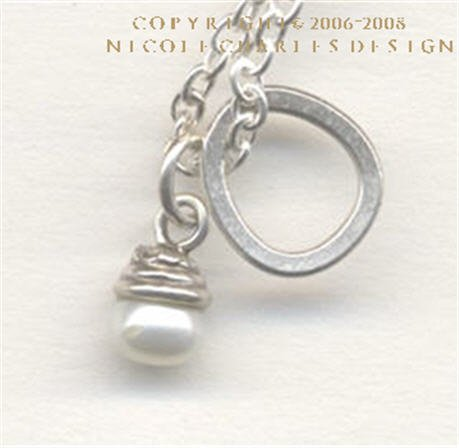 C L A I R E - - Stunning Freshwater Pearl and Sterling Silver Necklace