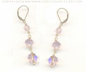 B E L L I S S I M A  Earrings- - Classically Elegant Amethyst Swarovski Austrian Crystal Earrings