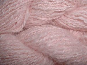 Light pink angora yarn
