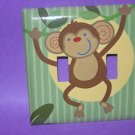 DOUBLE LIGHT SWITCH COVER  M/W NOJO JUNGLE BABIES