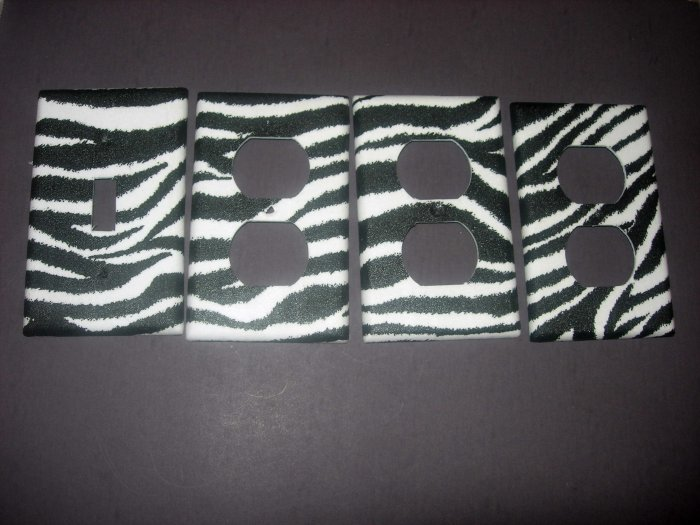 ZEBRA SWITCH PLATE COVERS