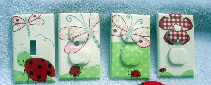 LIGHT SWITCH AND OUTLET COVERS M/W KIDSLINE LADYBUG