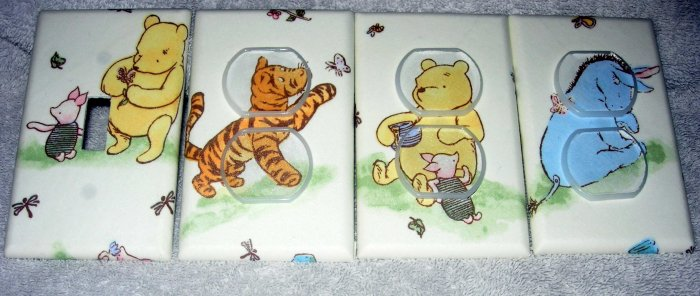 Light switch and outlet covers M/W Classic winnie the pooh