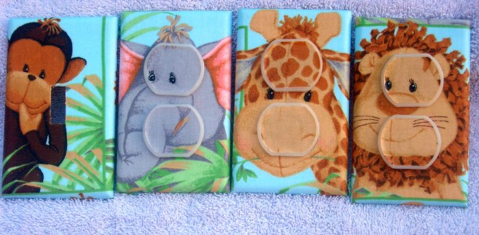 Light switch covers made with Patti Reed Jungle Babies