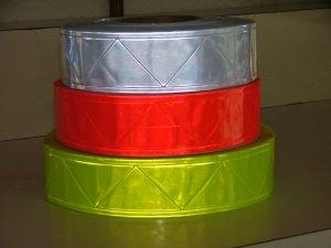 "Reflective YELLOW PVC High Gloss Trim 2"" x 30ft"