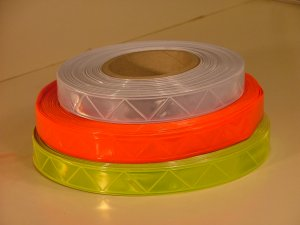 "Reflective Orange PVC High Gloss Tape 1"" x 30ft"
