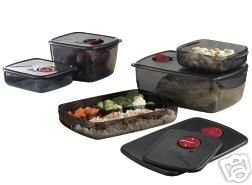 TUPPERWARE 5PC ROCK N SERVE LARGE SET -MICROWAVE