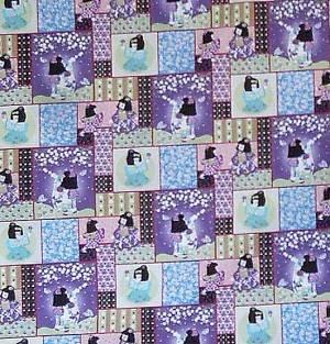 Cotton Fabric Kawaii by BeverlyAnn Stillwell