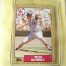 "1987 Topps ""TOM SEAVER"" Mint -Hall of Famer"