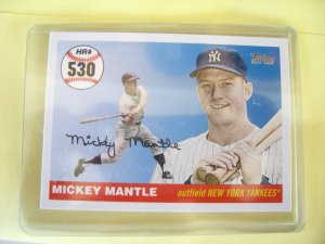 """2008 Topps """"MICKEY MANTLE"""" HR # 530 MHR530 Mint"""