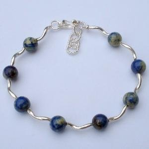 .950 Silver Bracelet with Lapis Lazuli *EMAIL SIZE FOR AVAILABILITY AND PRICE*