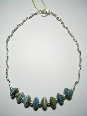 .950 Silver Necklace with Murano *EMAIL SIZE FOR AVAILABILITY AND PRICE*