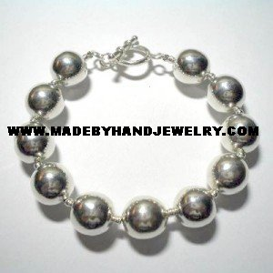 .950 Silver Bracelet with Silver Balls *EMAIL SIZE FOR AVAILABILITY AND PRICE*