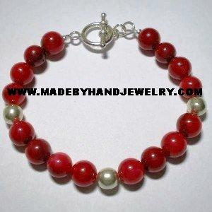 Handmade .950 Silver Bracelet with Nacar
