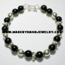 .950 Silver Bracelet with Black Onyx *EMAIL SIZE FOR AVAILABILITY AND PRICE*