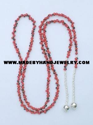 .950 Silver Necklace with Huayruro Seeds *EMAIL SIZE FOR AVAILABILITY AND PRICE*