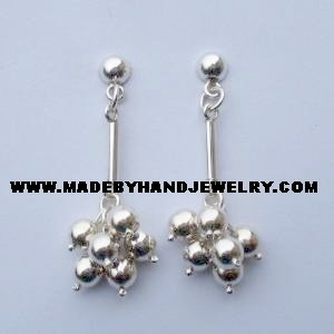 .950 Pure Silver Earrings (No. 6)