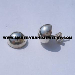 .950 Pure Silver Earrings (1/2 No. 10)